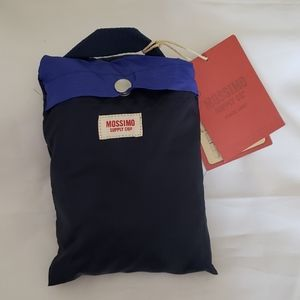 Mossimo Fold Up Packable Duffel Bag Navy Blue